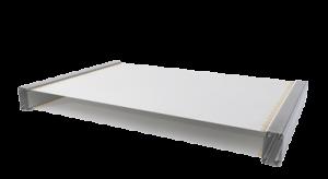 Muestra de la configuración de la cubierta de doble lona en una carpa