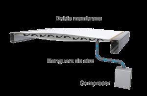 Sistema de cubierta hinchable para carpas