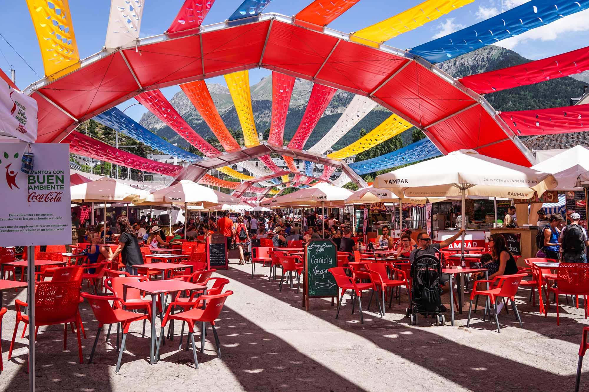 Sombreado para Pirineos Sur - Aracarpas: carpas para festivales y conciertos